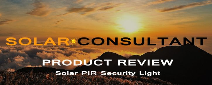 Solar Pir Security Light Review