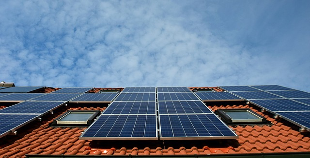 Traditional Solar Panels on Roof